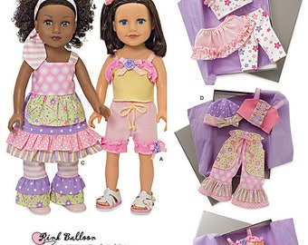 Simplicity 1296- Sewing pattern for 18 Inch Doll Clothes- Fits American Girl Dolls-