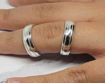 Boutonniere Splint Ring in Sterling Silver • R.A. Dip Rheumatoid • Arthritis Splint Ring Handmade by Evabelle