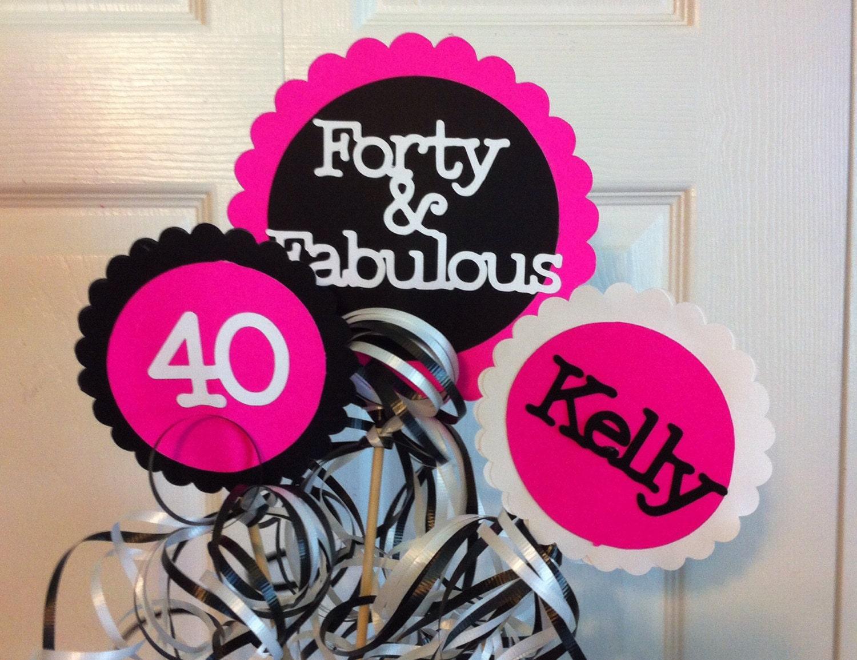 Birthday Decorations 3 piece Centerpiece Sign Set with