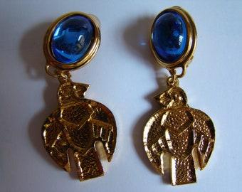 Atalante - Yves Saint Laurent sub-rand - bird  earrings