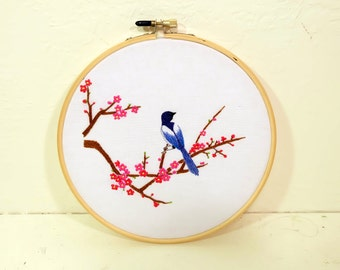 Picapica and Plum Blossom | Chinese Style | Hand embroidery kit for beginner