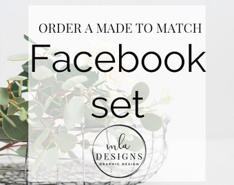 Made To Match Facebook Set - Choose Facebook Set or Custom Facebook Set to match your new Logo