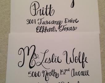 Envelope Calligraphy, Wedding Invitations, Calligraphy
