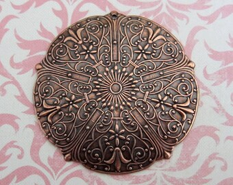 Large Copper Medallion Finding 3245C