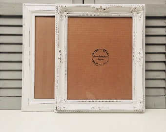11x14 Picture Frame; 11x14 Ornate Frame; 11x14 Frames; 11x14 Photo Frame; Distressed Frame; Large Shabby Chic Frame;
