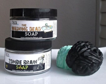 Brain in a Jar - Brain Soap, Zombie Gifts, Zombie Party Favors, Mad Scientist, Stocking Stuffer, Halloween Party