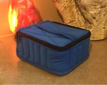CRAZY SALE!! ESSENTIAL Oils carrying Case-- Holds 30 5 or 15ml bottles-- in blue