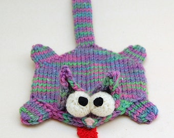 Splat Cat Amigurumi Plush Toy Coaster Knitting Pattern PDF Download