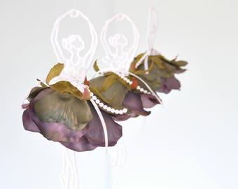 Dancing  Ballerina Lace ornament, hanger,flower,ballet,decoration chandelier,rose,mobile,wedding,