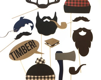 Lumberjack Photo Booth Props (12 pieces)