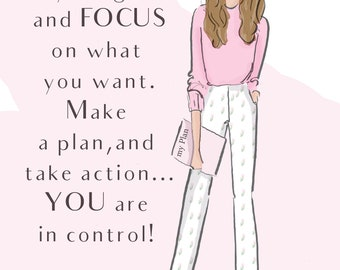 Cards for Women - Commit to YOUR Goals - Motivational Art -  - Greeting Cards - Quotes for Women  - Art for Women - Inspirational Art