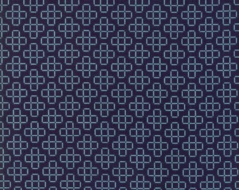 The Front Porch (37545 19) Navy Lattice by Sherri and Chelsi