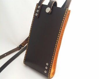 Cellphone Pouch with Yellow sides