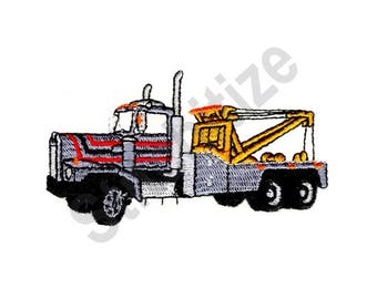 Wrecker - Machine Embroidery Design, Tow Truck