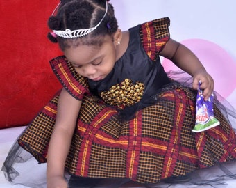 Ankara  dress/ ankara girls dress/ ankara baby clothing/ girls african dress/ african girl dress/ ankara baby dress/ African dress