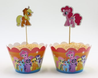 MY LITTLE PONY Cupcake Cases and Toppers.