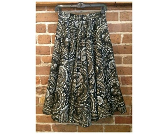 Vintage 50's Paisly Modern Jr Gale & Gale Skirt