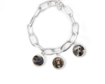 Custom Pet Photo Charm Bracelet
