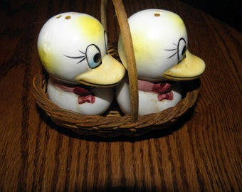 Ducks in a Basket Salt and Pepper Shakers