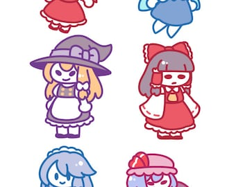 Touhou Project Sticker Set, Choose from 6 Designs or Pick Whole Set // 200GSM Acid Free