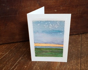 Art Greeting Card: Serene Sunrise