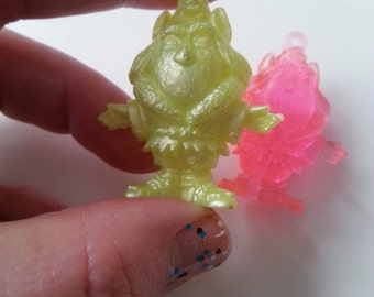 VERY RARE, vintage, charmkins, Hasbro, 1980s, scubidu, pimpi rosa, Dragonweed, pink and yellow, by NewellsJewels on etsy