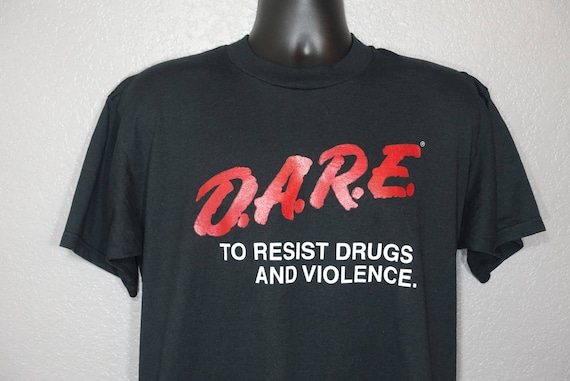 90's D.A.R.E. To Resist Drugs And Violence DARE Drug Abuse Resistance Education Program Vintage T-Shirt