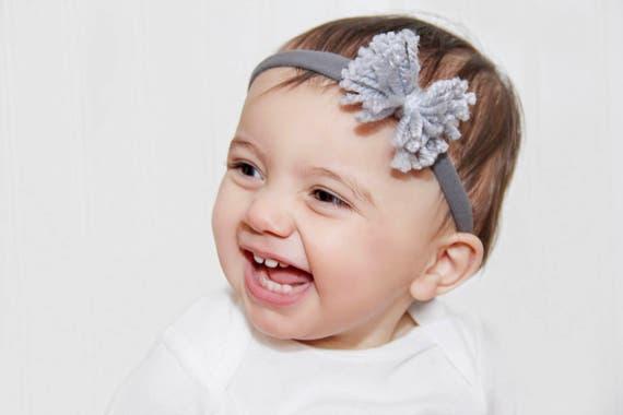 Fall Headband, Baby Bows, Baby Girl Headband, Baby Bow Headband, Baby Headband Bow, Gray Headband, Baby Headband, Bow Headband, Hair Bows