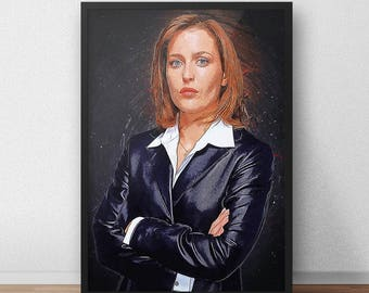 Dana Scully - Dana Scully Poster - X Files - X Files poster - Gillian Anderson - I Want to Believe Print - Ufo Flying Saucer Mulder