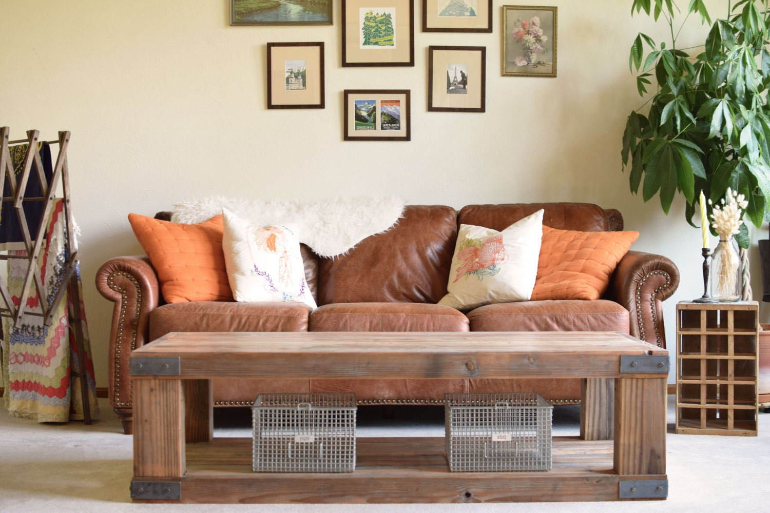 Reclaimed Wood Coffee Table Fir Furniture Living Room