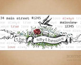 Tattoo Banner Custom Return Address Stickers
