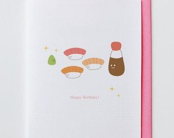 Japanese kawaii etsy wasabi birthday card shishi japanese kawaii cute happy birthday greeting m4hsunfo