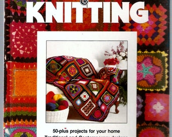 Vintage Hardcover Book Circa 1977  Crochet And Knitting Patterns  Better Homes And Gardens  50 Plus Knit And Crochet Projects For Your Home