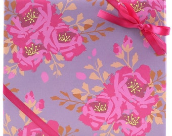 English Roses Wrapping Paper by Smudge Ink | bachelorette party bridal shower gift wrap bridesmaid gift wedding flower girl