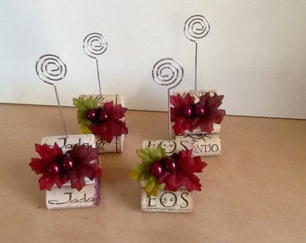 Vineyard theme,  Cork place card holders.... -..Used wine cork card holders.  sets of 4
