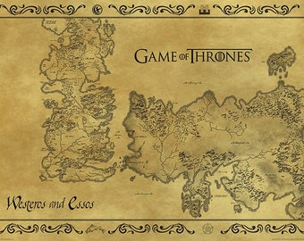 Game of Thrones - Map of Westeros - Antique