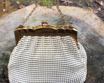 Gorgeous Antique clutch Whiting and Davis genuine mesh bag