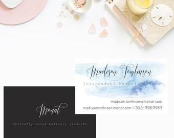 Dark and Stormy MONAT business cards, monat customized business card, marketing