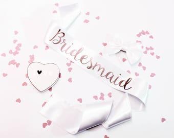 Bride to Be Sash, Custom Hen Party Sash, Rose Gold Sashes,  Bachelorette Sash,  Bridal Sash,  Bride Gift,  Wedding Sash,  Bride, Style R