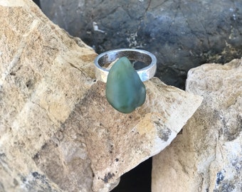 Big Sur Jade Ring: Size 6