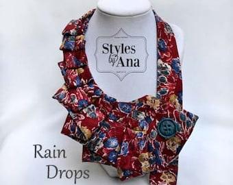 Necktie Necklace, Unique Finds, Statement Necklace, Women Fashion,Refashioned Clothing, Collar,Necktie Scarf,Fall Holiday Accessories