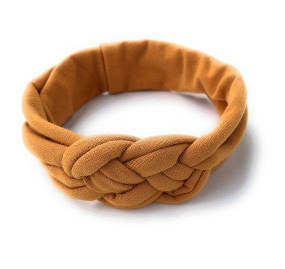 Baby Knot Headbands, Gold Knot Headband, Color Mustard Headband, Turban Headband, Baby Headwrap, Newborn Headband, Fabric headwrap
