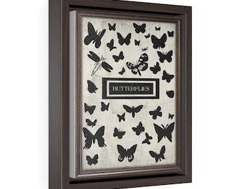 Butterflies - Vertical Framed Premium Gallery Wrap Canvas