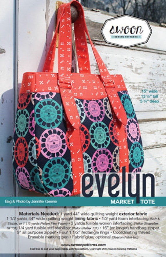 Evelyn Tote Swoon Sewing Patterns