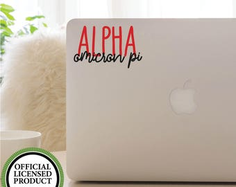 Vinyl Decal, GREEK, SORORITY, Alpha Omicron Pi, Font Fun