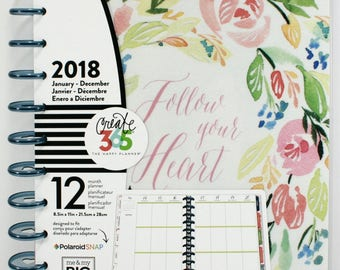 Create 365 12 Month Big Happy Planner, 2018 Happy Planner / Me and My Big Ideas / 2018 Planner / Personalized Planner