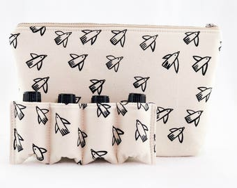 Essential Oil Bag/  Essential Oil Travel Bag/ Essential Oil Pouch/ Essential Oil Carry Bag/ Essential Oil Case -Natural Black Bird
