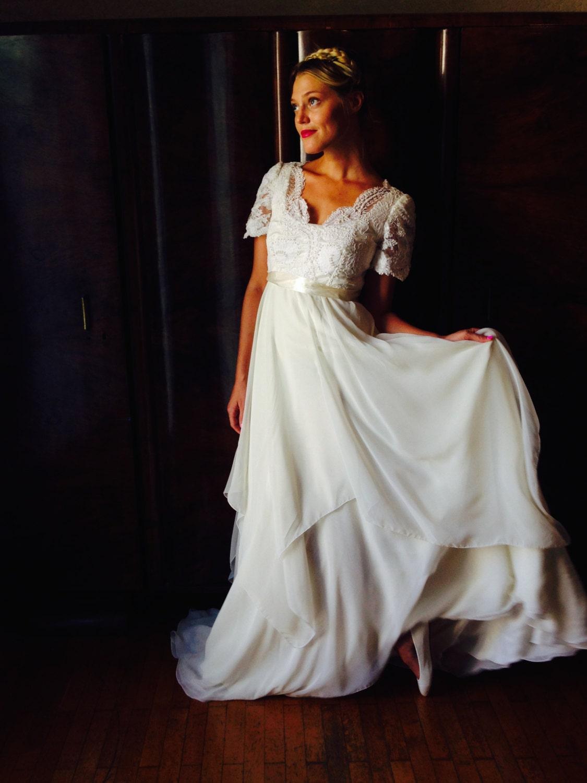 Ich tun Kleid/Vintage 70 Woodstock Hochzeit Kleid/Boho