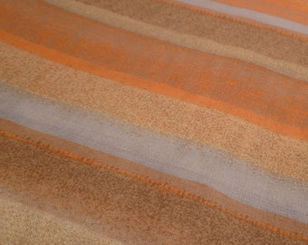 Desert Stripes - Vintage Fabric - Rayon