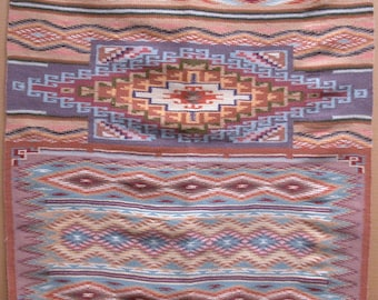 AMERICAN SOUTH-WEST, Navajo Nation. Original Hand-Woven Wool Rug. 33 x 30 inches.